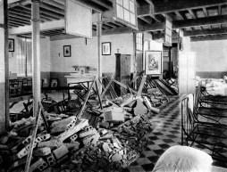 Tabiques caídos en el Asilo de San José