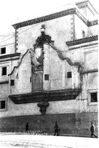 Daños en el camarín de Santo Domingo