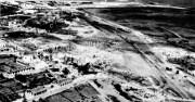 Vista aérea de la base naval siniestrada