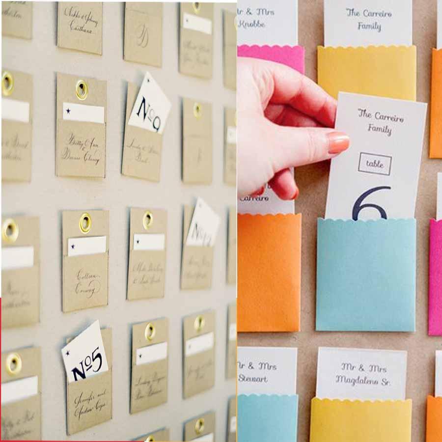 Escort cards une chouette alternative aux plans de tables - Etiquette plan de table ...