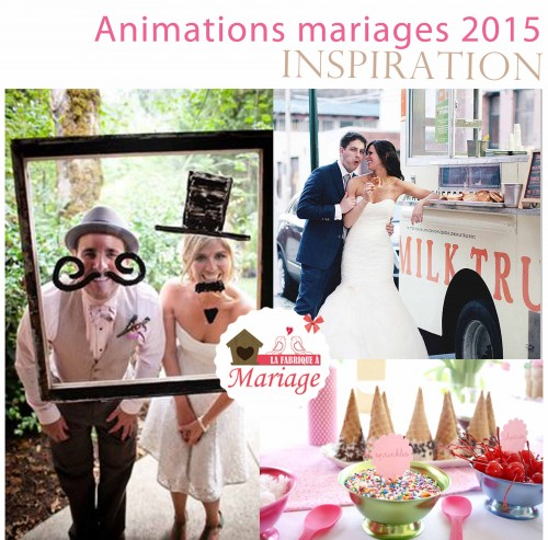 animations mariage 2015