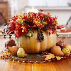 centre de table automne