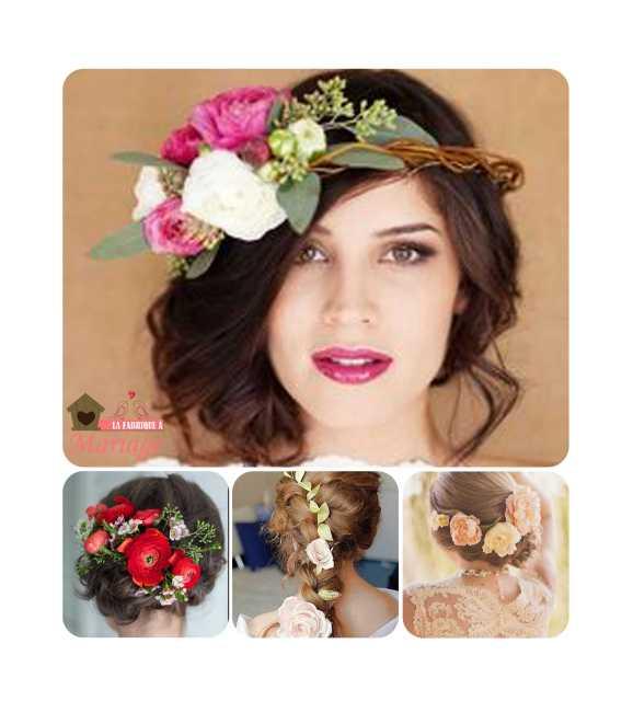 coiffure fleurs mariage