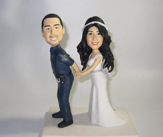 figurine police - Figurine Mariage Humoristique Pas Cher