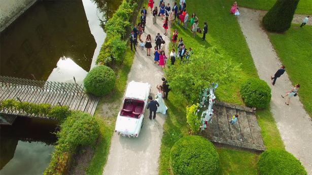photo drone mariage invites - la fabrique a mariage