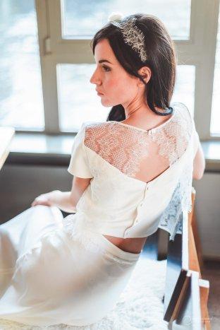 JUPE et TOP DOS LES MARIEES FOX-mariage civil - la fabrique à mariage