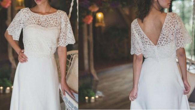 robe et top les mariées fox - la fabrique à mariage
