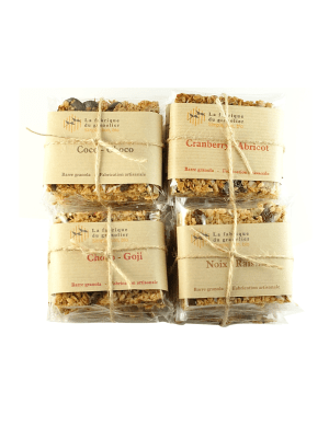 Pack ultra gourmand 20 barres granola BIO
