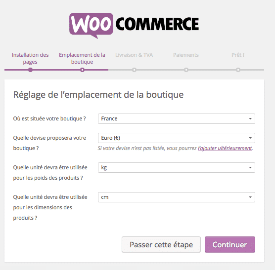 creer site woocommerce assistant emplacement boutique