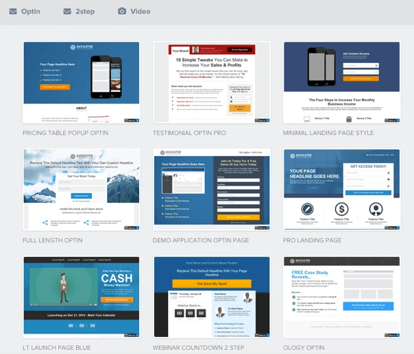 clickfunnels templates landing pages