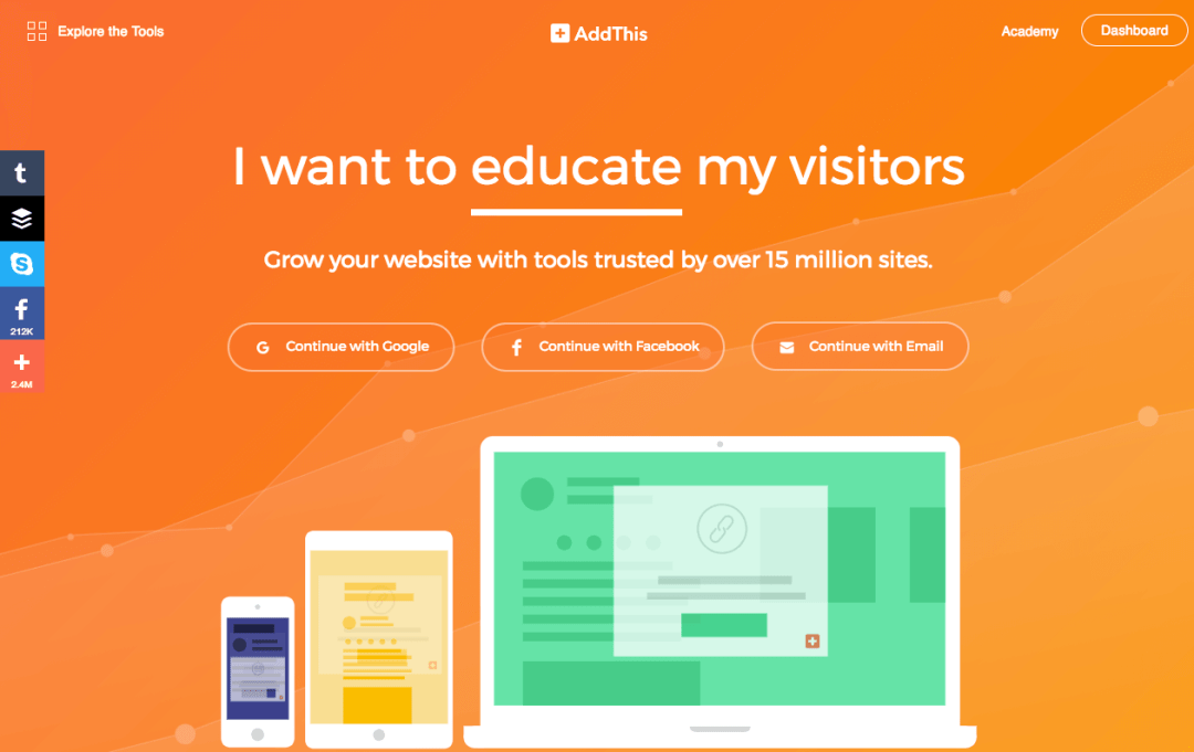 exemples landing pages accueil addthis