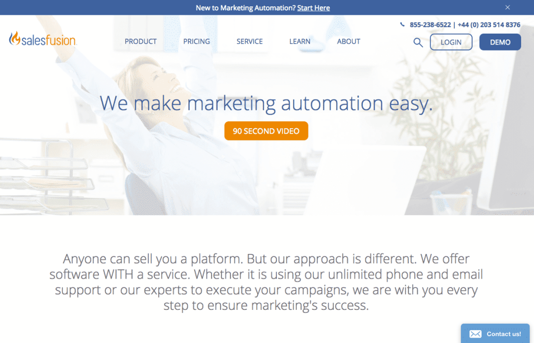 exemples landing pages accueil salesfusion
