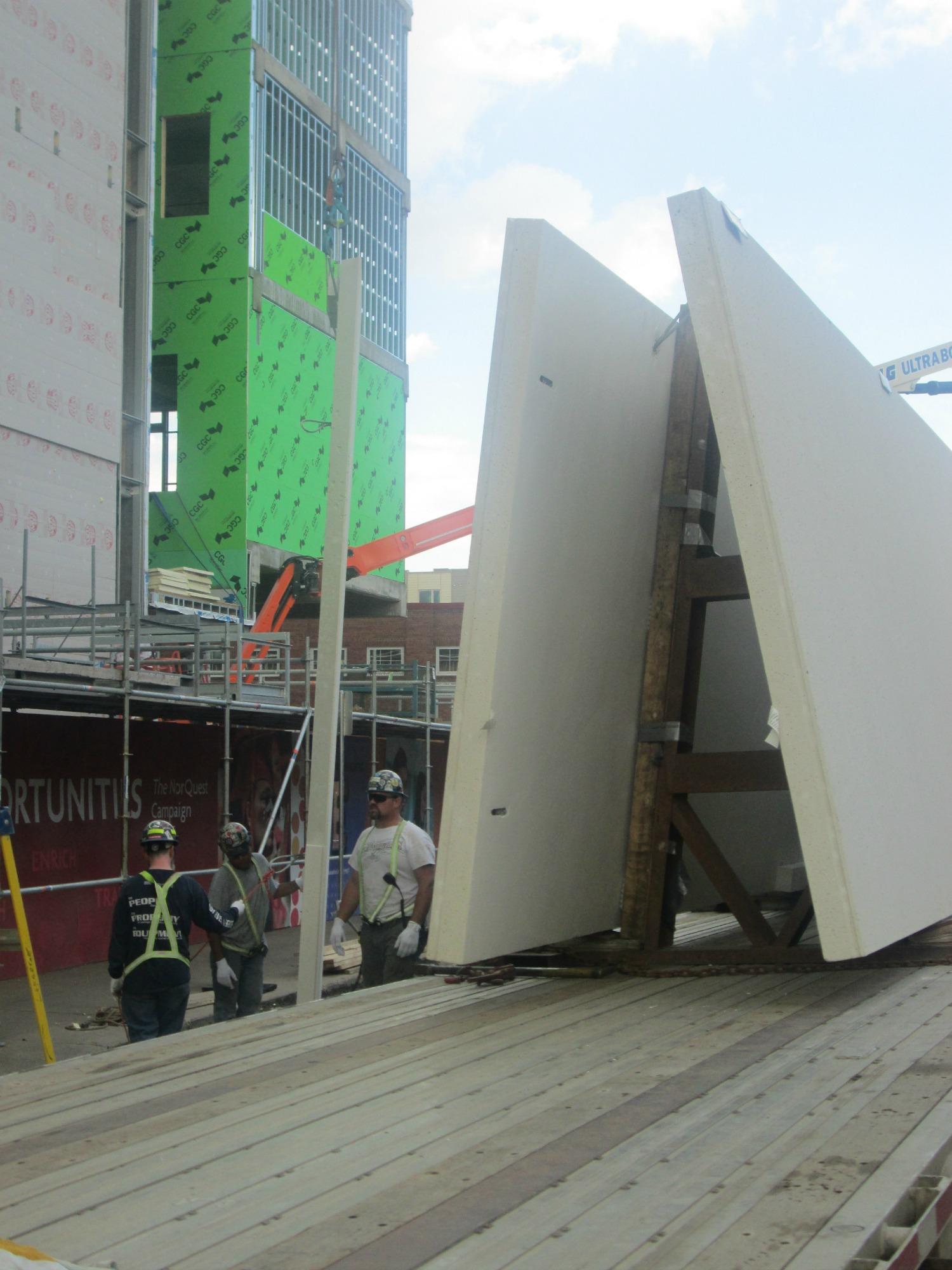 Precast Concrete Cladding Sheets : Precast concrete wall cladding panels norquest college by