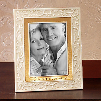 Lenox 50th Anniversary Ivory Amp Gold 5x7 Frame