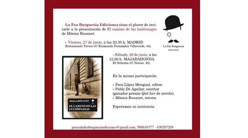 Presentación del libro El camino de las luciérnagas en Madrid