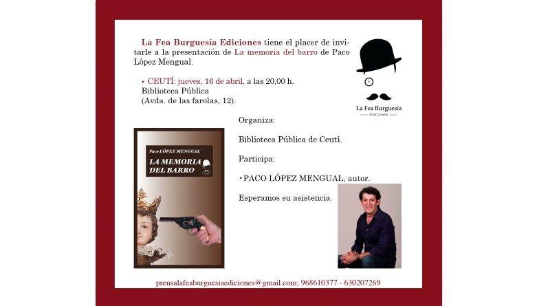 """Presentación del libro """"La memoria del barro"""" en Ceutí"""