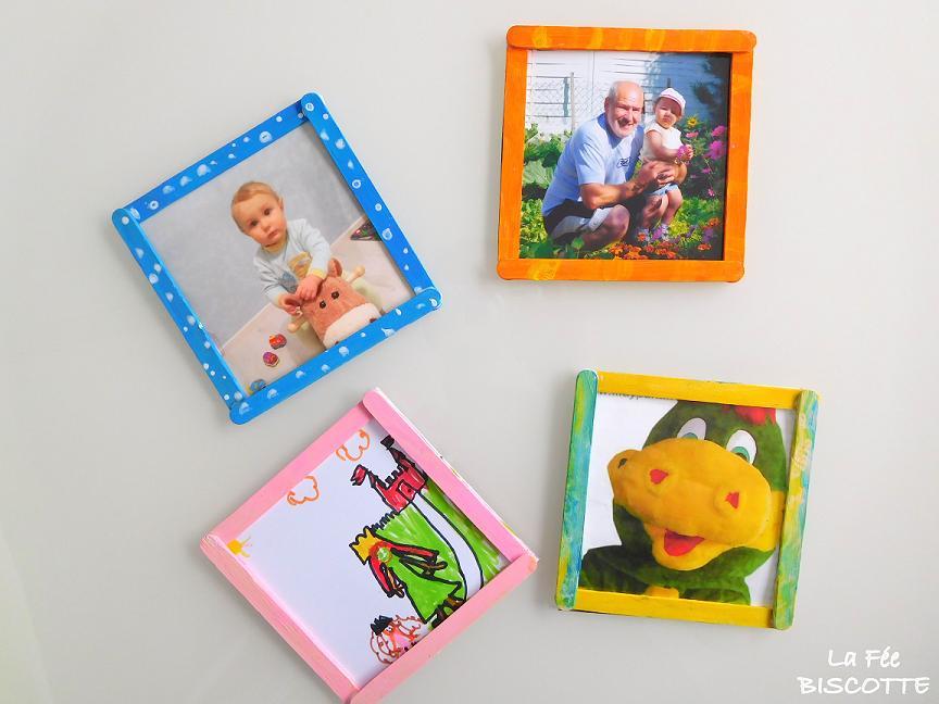 r aliser des cadres photo avec vos enfants la f e biscotte. Black Bedroom Furniture Sets. Home Design Ideas