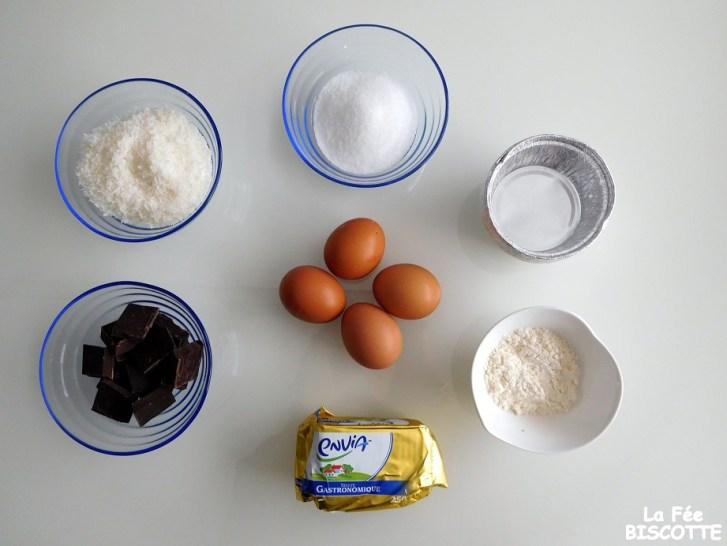 recette mi cuit chocolat coco