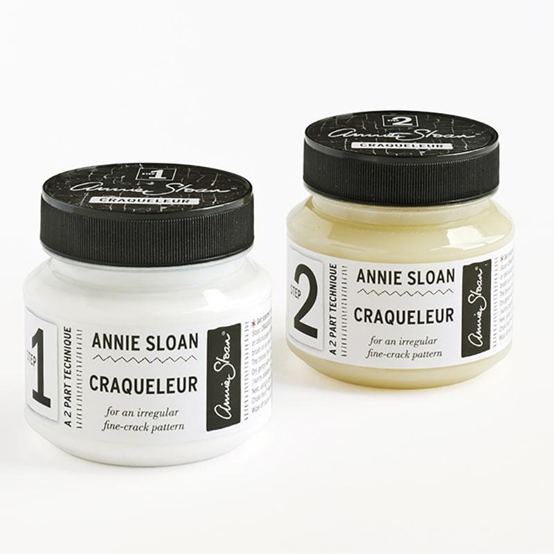 le kit de la marque Annie Sloan pour produire un effet craquelé  dans votre relooking