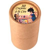 30 crayons à la cire