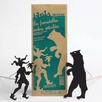 marionnette articulées pour enfant représentant un ours et un fou du roi