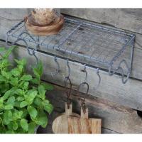 Etagère en fil de fer avec crochets