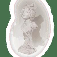 "Plâtre buste femme ""Sur mer"""