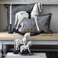 Grande Statuette cheval à bascule vintage