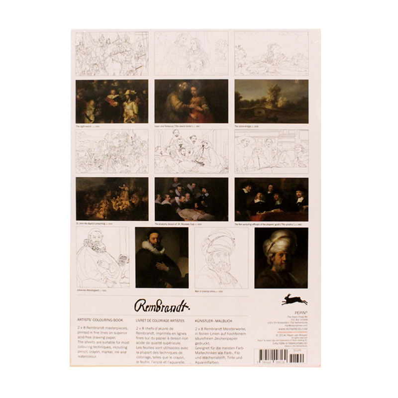 Coloring book REMBRANDT PAINTINGS
