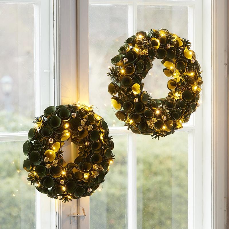 couronnes de Noel lumineuses
