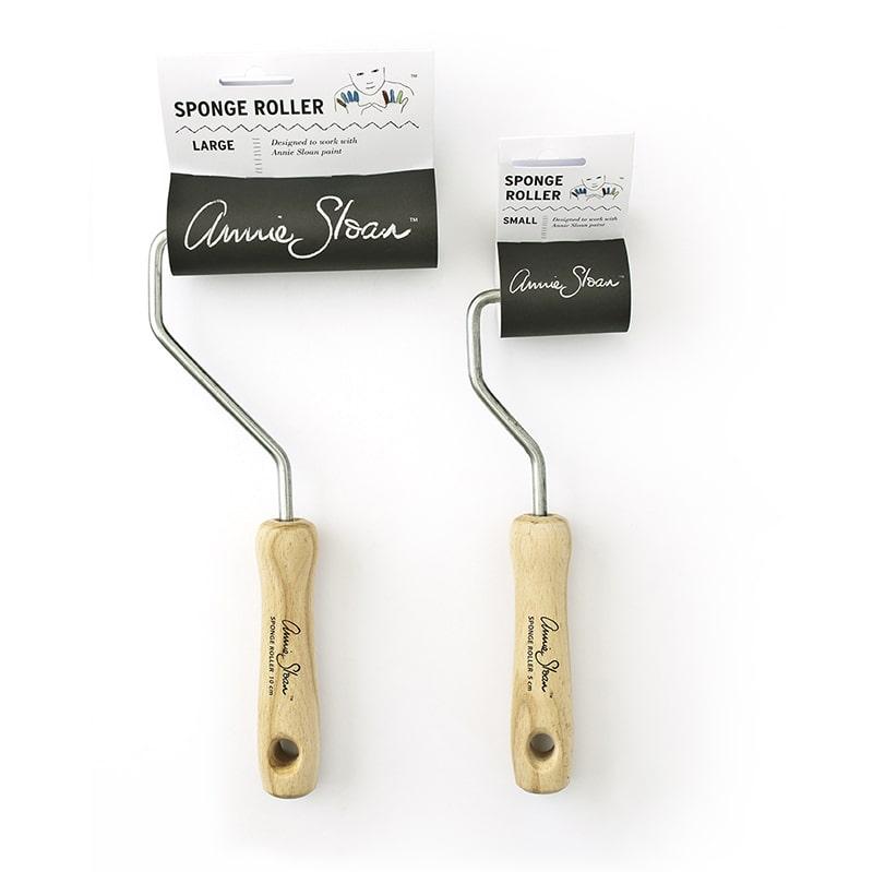 rouleaux mousse grand et petit model pour appliquer la Chalk Paint Annie Sloan