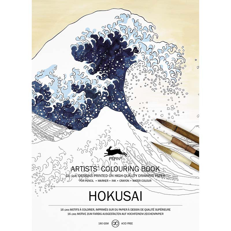 Coloring book HOKUSAI