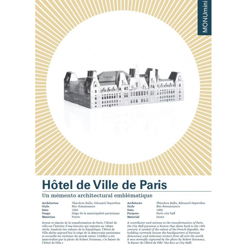 Monumini HOTEL DE VILLE DE PARIS mini maquette