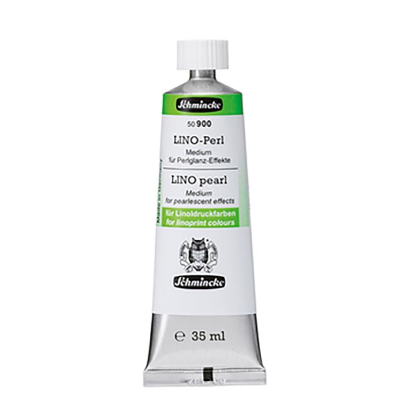 Médium effet nacré des impressions en lino gravure en tube de 35ml