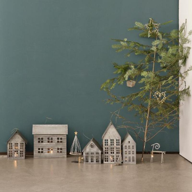 2 Maisons en zinc photophore