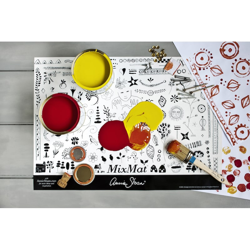 mixmat, le tapis mélangeur d'annie sloan pour le relooking