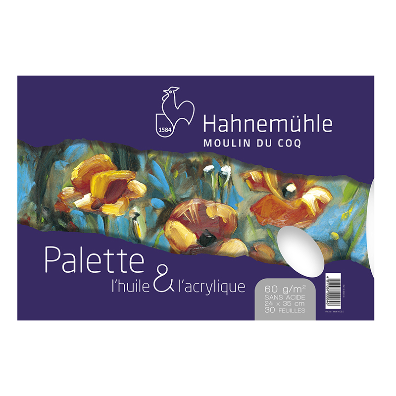 Palette pelable pour huile et acrylique