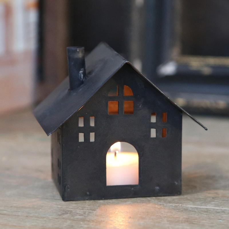 Petite Maison photophore en fer