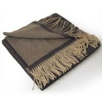 Plaid laine cashmere gris foncé