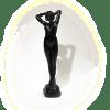 Plâtre publicitaire noir Jeune femme au reveil