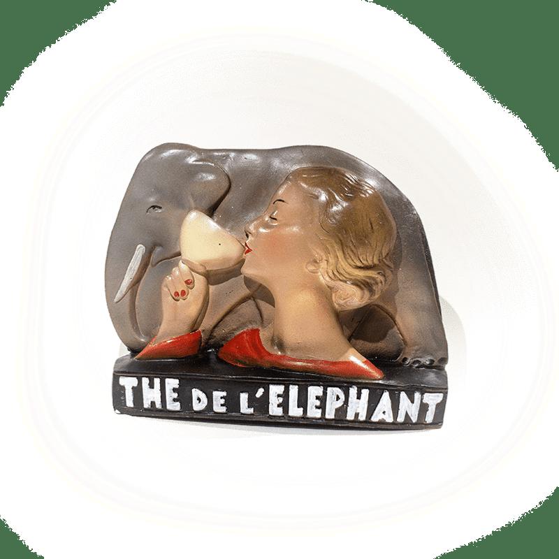 Plâtre publicitaire Thé de l'éléphant