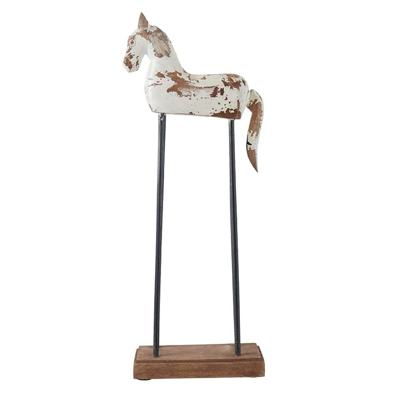 statuette de cheval vintage sur socle