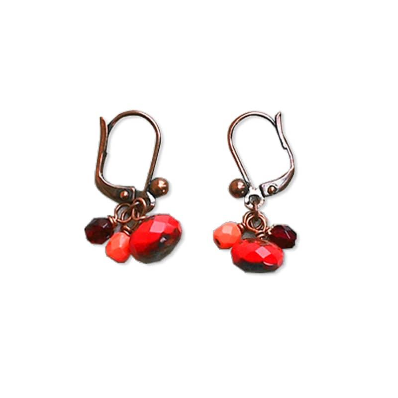 """boucles d'oreille bijoux créateur """"petit loup"""" Lilakacemi"""