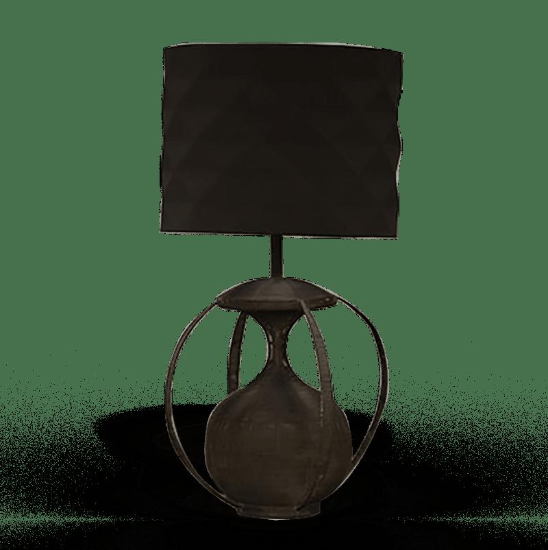 lampe relookée par La Fée Caséine avec la peinture décoration Chalk Paint d'Annie Sloan