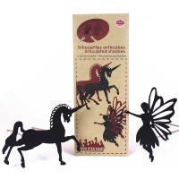 silhouette articulee la licorne et la fee