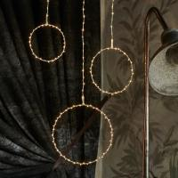 Cercles lumineux suspension Liva Circle 3 pièces La Fée Caséine