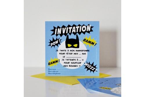 invitation super heros chacha