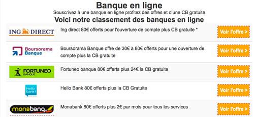 Top 5 des banques en ligne