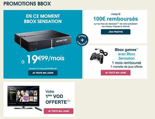 BBox Sensation les offres et promotion
