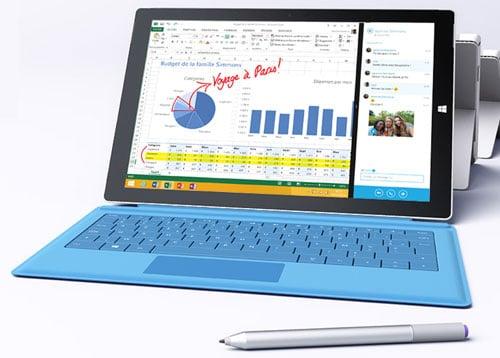 Acheter une tablette Surface Pro 3 de Microsoft